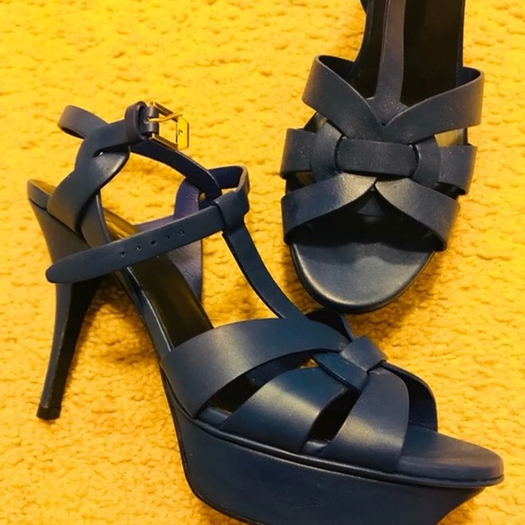 c499bbcbc9 Yves Saint Laurent Shoes | Ysl Tribute 105 Royal Blue Women | Poshmark